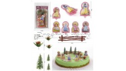 Kit TOPPER decorazione per TORTE e DOLCI walt Disney PRINCIPESSE