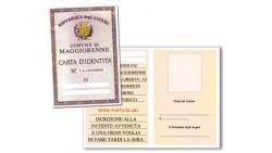 Biglietto di auguri per 18 anni- Carta d'Identità MAGGIORENNE