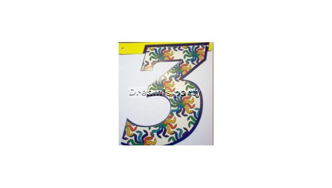 NUMERO FANTASIA 3 CM 20