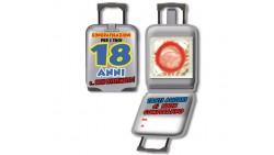 Mini Biglietto d'auguri augurale Porta Profilattico 18 ANNI - con preservativo