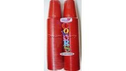 BICCHIERE PLASTICA ROSSO 100PZ 200CC