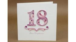Biglietto d'auguri Origamo Compleanno 50 ANNI LEI a rilievo