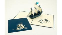 Biglietto d'auguri Origamo Compleanno, generico 3D - GALEONE