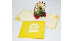 Biglietto d'auguri Origamo Compleanno, generico 3D - Ruota panoramica
