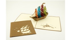 Biglietto d'auguri Origamo Compleanno, generico 3D - VASCELLO
