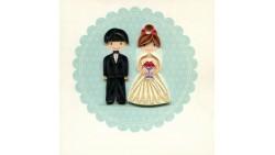Biglietto d'auguri Origamo Matrimonio a rilievo - Coppia Sposi