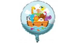 Pallone Arca di Noè con ANIMALI - palloncino in foil Mylar gonfiabile ad aria o elio Ø45cm