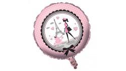 Pallone fashion PARIS - palloncino in foil Mylar gonfiabile ad aria o elio Ø45cm