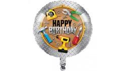 Pallone HANDYMAN attrezzi da lavoro - palloncino in foil Mylar gonfiabile ad aria o elio Ø45cm