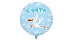Palloncino foil Mylar Cicogna è NATO - nascita bimbo - gonfiabile ad aria o ad elio
