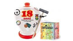 Salvadanaio in ceramica con Martelletto - 18 Anni idea scherzo gaget