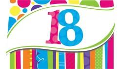 8  inviti FESTA di COMPLEANNO 18 anni Multicolor - Con Busta