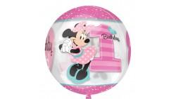 Pallone palloncino MINNIE 1 compleanno - Bubbles ORBZ