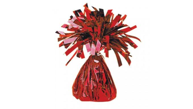 Pesetto PESO centrotavola Ciuffetto colore ROSSO - ideale per Palloncini ad Elio