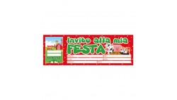 20  inviti assegno FESTA di COMPLEANNO Animali della Fattoria - blocchetto inviti