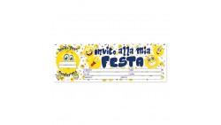 20  inviti assegno FESTA di COMPLEANNO SMILE, Emoticon emoji  - blocchetto inviti