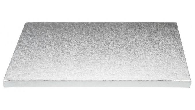 Piatto SottoTorta rigido vassoio RETTANGOLARE - CAKE BOARD Argentato 30 x 40cm