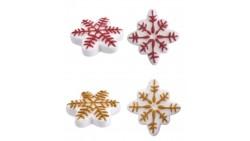 Fiocco di Neve in ZUCCHERO - decorazione natalizia per torte e dolci - 1 pezzo casuale