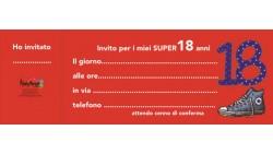 20  inviti assegno FESTA 18 COMPLEANNO  - blocchetto inviti