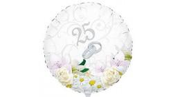 Palloncino foil Mylar 25° anniversario - gonfiabile ad aria o ad elio