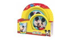 Set colazione pasto Bimbo di TOPOLINO - Mickey Mouse - Set in plastica