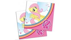 20 Tovaglioli My little pony Rainbow 33x33cm - addobbo decoro tavolo torta - festa per bambini