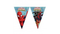 Festone BANDIERINE SPIDERMAN in PVC 2,3mt - addobbo decoro tavolo torta