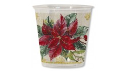 8 Bicchieri Kristall in plastica stella di natale - addobbo decoro tavola natalizia