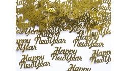 Confetti - Coriandoli da tavola sagomati HAPPY NEW YEAR ORO 3 gr