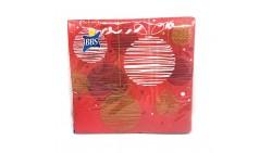 20 TOVAGLIOLI in carta NATALE Rosso e ORO - addobbo decoro tavola natalizia