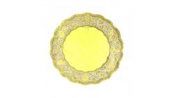 9 CENTRINI ORO lucido monouso per DOLCI in carta - Ø13cm - centrino tondo