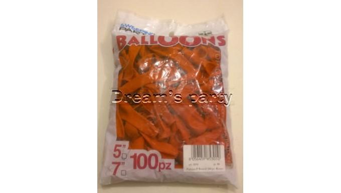 100 PALLONCINI LATTICE ROSSI 5 POLLICI