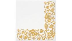 20 Tovaglioli in carta - Rose ORO - addobbo decoro tavola