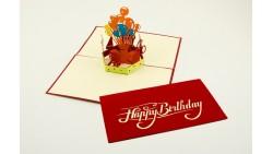 Biglietto d'auguri Origamo Buon Compleanno 3D - Palloncini