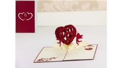 Biglietto d'auguri Origamo Compleanno, Amore 3D - CUORE Innamorati