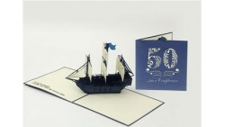 Biglietto d'auguri Origamo Compleanno, generico 3D - 50 anni GALEONE