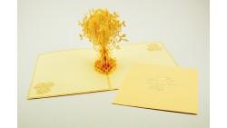 Biglietto d'auguri Origamo Compleanno, generico 3D - Albero della Vita