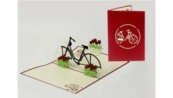 Biglietto d'auguri Origamo Compleanno, generico 3D - BICICLETTA