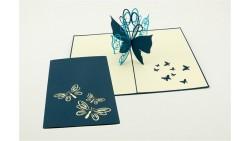 Biglietto d'auguri Origamo Compleanno, generico 3D - FARFALLA
