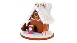 Casa CASETTA Natalizi in Biscotto e  ZUCCHERO - Babbo Natale, neve, pacco regalo