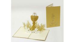 Biglietto d'auguri Origamo Compleanno, generico 3D - COMUNIONE