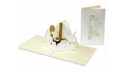 Biglietto d'auguri Origamo Compleanno, generico 3D - CRESIMA