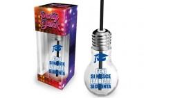Bicchiere della LAUREA - a forma di LAMPADINA - idea scherzo gaget LAUREATO o LAUREATA