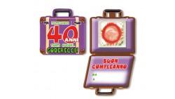 Mini Biglietto d'auguri augurale Porta Profilattico 40 ANNI - con preservativo