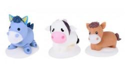 3 Soggetti in zucchero ANIMALI della FATTORIA assortiti 3D - decorazione per torte