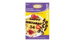 ALFABETO in cioccolato - Decorazione per torte e dolci - 84 Lettere e numeri