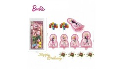 Kit TOPPER BARBIE decorazione per TORTE e DOLCI - in plastica
