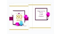 Biglietto d'auguri 80 ANNI - specifico di Compleanno - ideale come regalo per l'ottantesimo compleanno