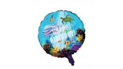 PALLONE palloncino in Mylar - Festa OCEANO pesci - gonfiabile ad elio o aria
