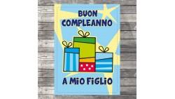 Biglietto d'auguri specifico di Compleanno a mio FIGLIO - idea regalo